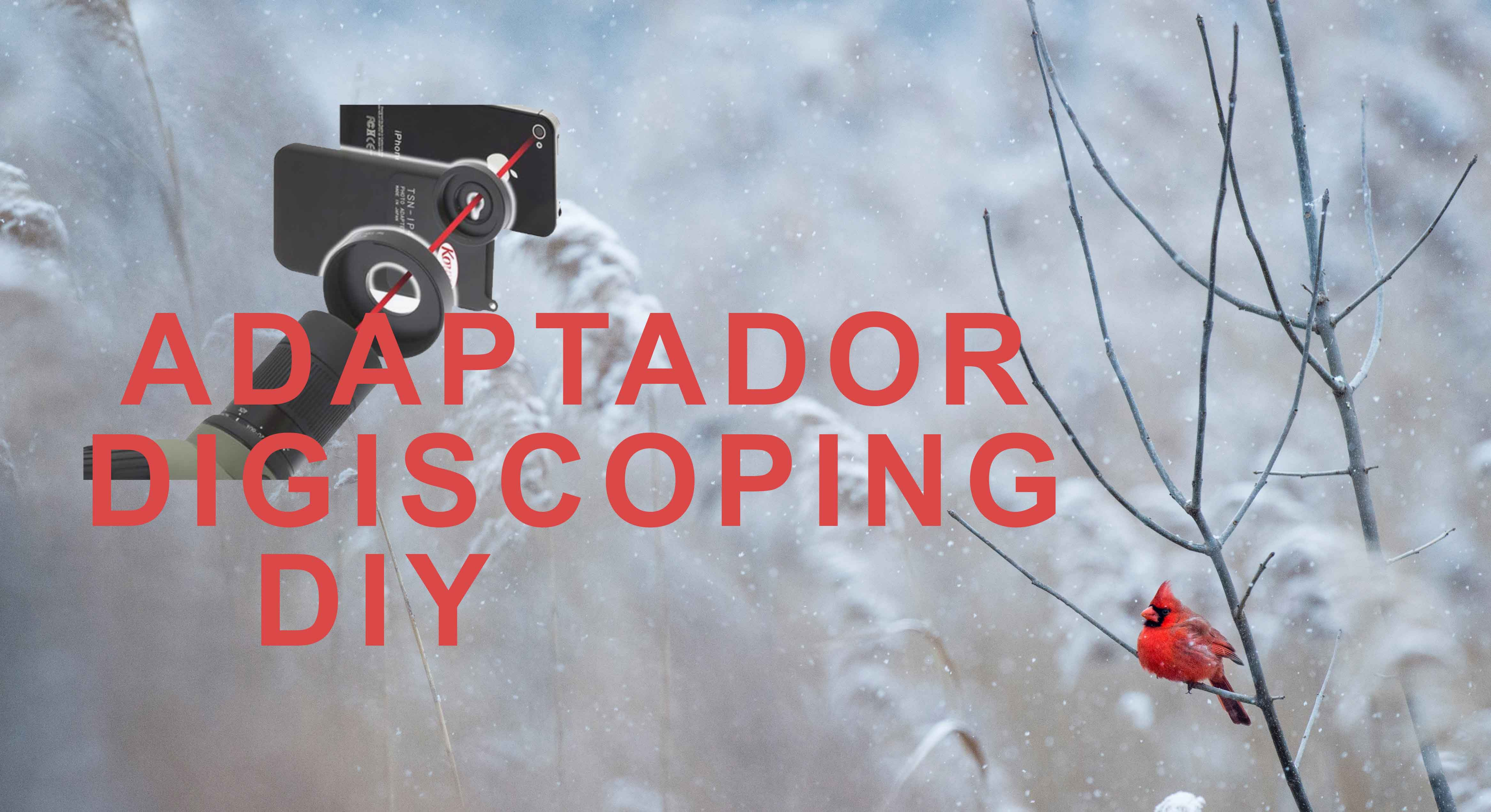 Adaptador digiscoping casero